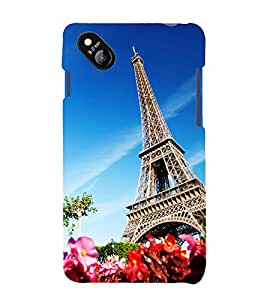 printtech Paris Tower View Back Case Cover for MicromaxBolt D303