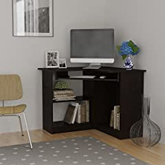 Corner Computer Desk Great for Dorm, College or Space Saving in Small Room