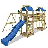 WICKEY Sunflyer Parques infantiles Toboganes Columpios Caj�n de arena azul Toboganes / azul techo