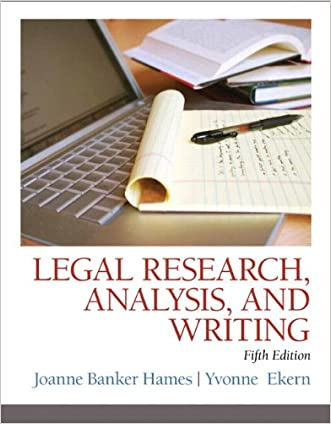 Legal Research, Analysis, and Writing (5th Edition)