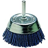 Wolfcraft 2728000 Brosse nylon soucoupe Tige 6 ø 50 Bleu