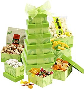 Broadway Basketeers Gift Tower, Budding Lime