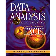 Data Analysis In Plain English with Microsoft Excel