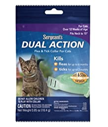 Sergeant Dual Action Flea & Tick Collar for Cats (Pack of 3)