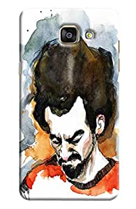 Blue Throat Person Annoying Printed Designer Back Cover/ Case For Samsung Galaxy A7 2016