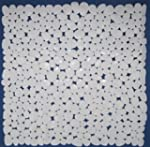 Pebble Bath Shower Mat White 100% Vin...