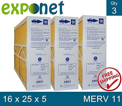 ELECTRO AIR M1-1056 GENUINE ORIGINAL 16x25x5 (Actual Size: 15-3/8 X 25-1/2 X 5-1/4) MERV 11 MEDIA FILTERS CASE OF 3, PRIME OEM PRODUCT.