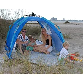 Portable pop-up screen tent / beach shelter