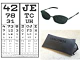 LAG Eyetrainer Rare High Quality Pinhole Glasses Metal with Flex Frame - Made In Germany