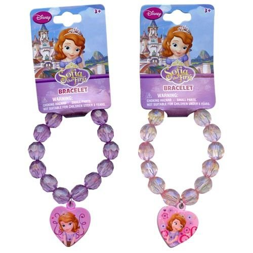 WeGlow International Sofia The First Assorted Faceted Beaded Bracelet with Plastic Charm (Set of 3) - 1