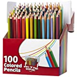 RoseArt Colored Pencils, Assorted Colors, 100-Count, Packaging May Vary (1055WA-4) ~ Rose Art