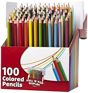 RoseArt Colored Pencils, Assorted Colors, 100-Count, Packaging May Vary (1055WA-4)