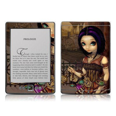 Poe Design Protective Decal Skin Sticker - High Gloss Coating for Amazon Kindle 4 (5-way controller - 4th Gen / release in Oct 2010)