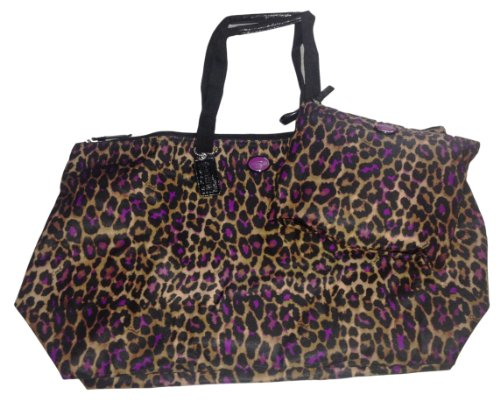 Coach   Coach Large Nylon Packable Weekender 2 Pc. Set F77460, Ocelot Violet Print