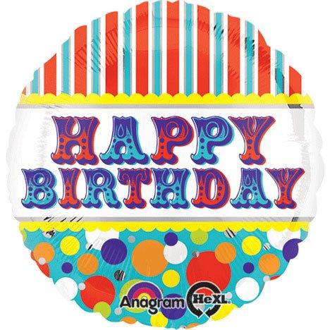 Anagram International Hx Happy Birthday Big Top Balloon, Multicolor