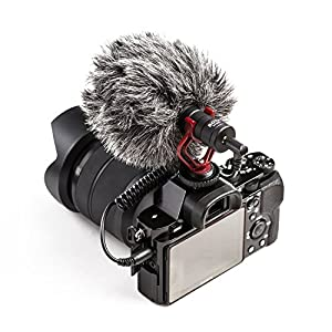 BOYA by-MM1 Universal Cardiod Shotgun Microphone MIC Video for Smartphone DSLR (Color: Black, Tamaño: S)