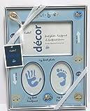 Cudlie! Decor Baby Boy's First Photo Handprint Footprint Frame