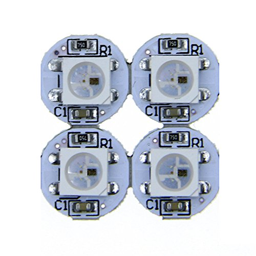 ALITOVE 100pcs WS2812B Addressable LED Pixel light 5050 RGB SMD on Heat Sink PCB Board 1-led LED Module Pixels Light 5V DC