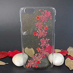 Beautiful Real Flowers Clear Slim Unique Design Phone Case for iPhone 6(10)