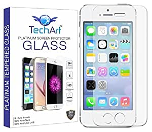TechArt 9H Hardness Toughened Scratch Proof [2.5D] Tempered Glass Screen Protector for Apple iPhone SE