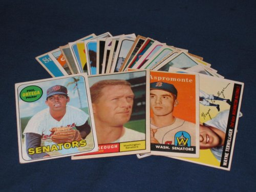 25 Different Vintage Washington Nationals/Senators Topps Baseball Cards from 1955-1969 - Shipped in Protective Display Album! - Buy 25 Different Vintage Washington Nationals/Senators Topps Baseball Cards from 1955-1969 - Shipped in Protective Display Album! - Purchase 25 Different Vintage Washington Nationals/Senators Topps Baseball Cards from 1955-1969 - Shipped in Protective Display Album! (Topps, Toys & Games,Categories,Games,Card Games,Collectible Trading Card Games)