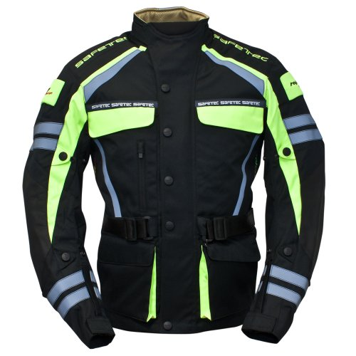 roleff racewear 9537 blouson moto textile safetec noir jaune fluo xxxl sport automobile vestes. Black Bedroom Furniture Sets. Home Design Ideas