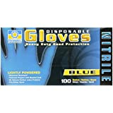 Permatex 09184 Medium Disposable Nitrile Gloves, Box of 100