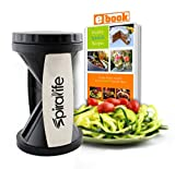 SpiraLife Vegetable Spiralizer and Recipe eBook - Durable Composite Design - 2 Blade Sizes