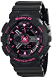 Casio Womens BA-111-1ACR Baby-G Analog-Digital Display Quartz Black Watch