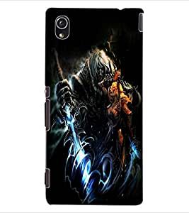 ColourCraft Dark King Design Back Case Cover for SONY XPERIA M4 AQUA