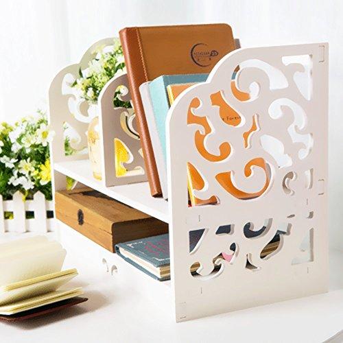 jintu wei 40 cm 40 6 cm diy retro desktop storage rack home office schreibtisch aufbewahrung. Black Bedroom Furniture Sets. Home Design Ideas