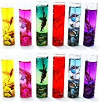 ShadowFax Big Shot Gel Candle Glass 11cm Multicolor Set Of 12