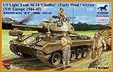 ブロンコモデル 1/35スケール 【CB35069】米M24チャーフィー軽戦車(大戦型)+戦車兵4体
