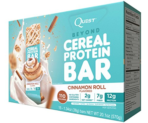 Quest Nutrition Quest Beyond Cereal Bar Cinnamon Roll 15-1.34oz Bars (Quest Protein Cinnamon Roll compare prices)