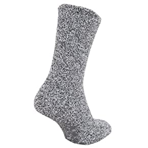 Mens Warm Slipper Socks with Rubber Non Slip Grip