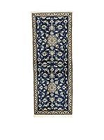 L'Eden del Tappeto Alfombra Nain K Azul Oscuro / Blanco 200  x  78 cm