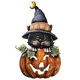 Pumpkin & Kitty Metal Halloween Door Decoration