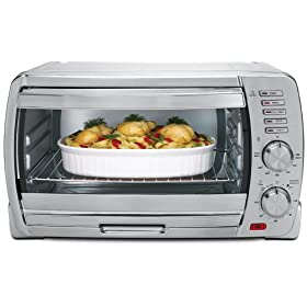 Oster TSSTTVSKBT 6-Slice Large Capacity Toaster Oven, Brushed Stainless Steel