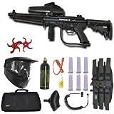 Tippmann A-5 Paintball Marker Gun 3Skull Flatline Sniper Set + Paddles