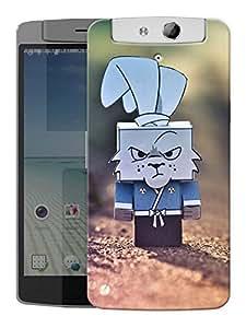 "Humor Gang Cartoon Rabbit Box Printed Designer Mobile Back Cover For ""Oppo N1"" (3D, Matte, Premium Quality Snap On Case)"