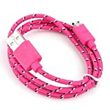 3 metre 8 Pin Charger Cable and Sync Lead,Unbreakable Braided Cable compatible with iPhone 5,5c,5s,iPad Mini, 4G,iPod Touch 5G,Nano 7G (hot pink)