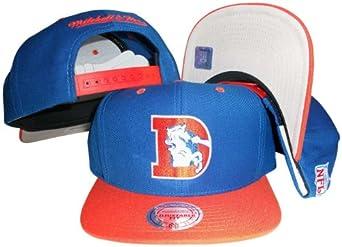 Denver Broncos Blue Orange Two Tone Snapback Adjustable Plastic Snap Back Hat Cap by Mitchell & Ness