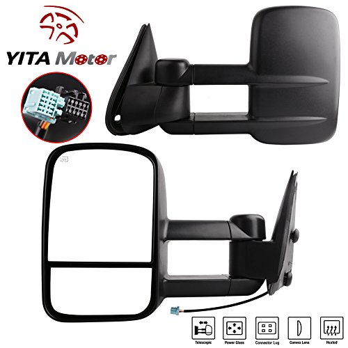 YITAMOTOR Pair Towing Mirrors for 2003-2007 Chevy Silverado GMC Sierra Pickup Truck Tow Power + Heated Side Mirrors (2003 Chevy Truck Tow Mirrors compare prices)