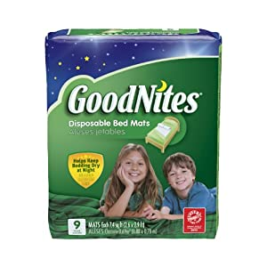 Huggies GoodNites Disposable Bed Mats, 9 Count