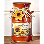 Vintage Country Sunflowers Milk Can. Use as Vase, Utensil Holder and Much More. Farmhouse Home Decor