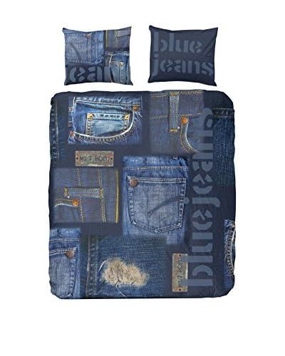 GOOD MORNING Juego De Funda Nórdica Blue Jeans Azul