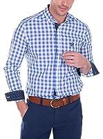 SIR RAYMOND TAILOR Camisa Hombre Bite (Blanco / Azul)