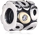 Pandora Bead Silver Gold 790431CZ (Does Not Come In Pandora Box)