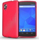 TUDIA Ultra Slim Melody TPU Bumper Protective Case for LG Google Nexus 5 (Pink)