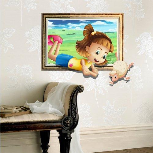 bluelover-camera-dei-bambini-bambino-3d-cartone-animato-little-girl-pecore-gioco-muro-decalcomanie-c